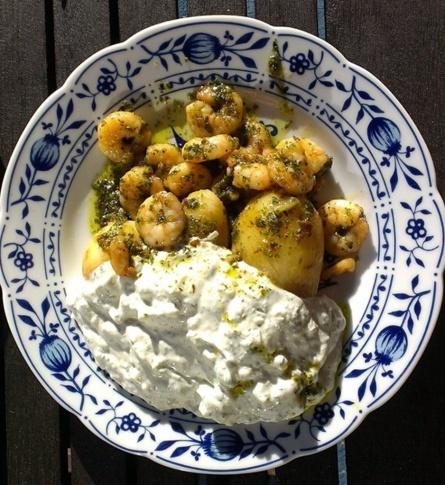 Shrimps mit Kartoffeln