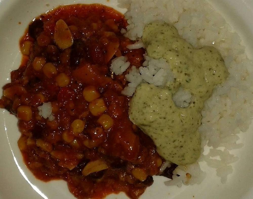 Chili sin Carne mit Dip (Yvonne B.)